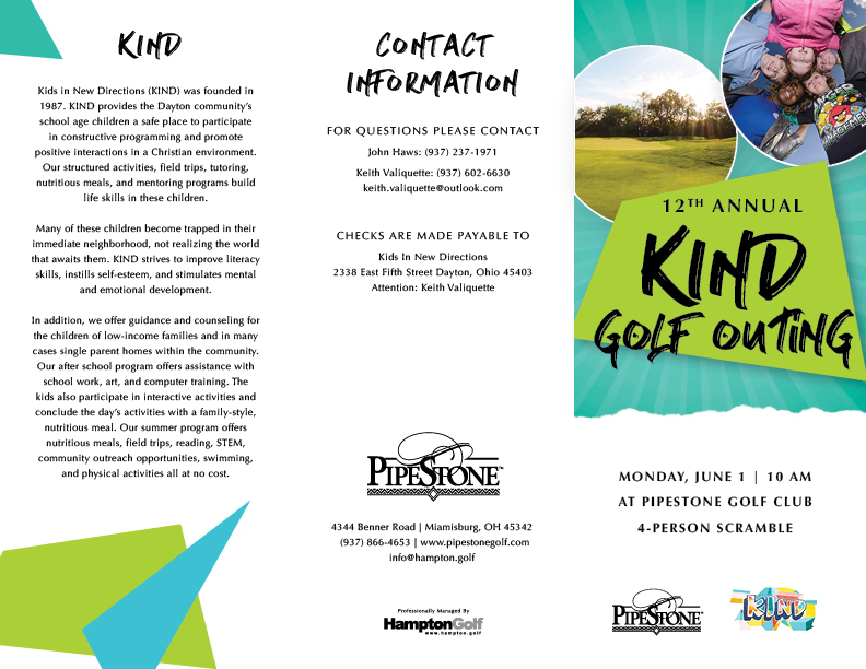 PS KIND Golf Outing Brochure